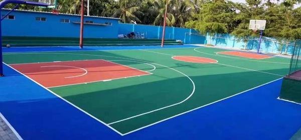 标准篮球场塑胶雷竞技app竞猜可靠吗施工建设浅析